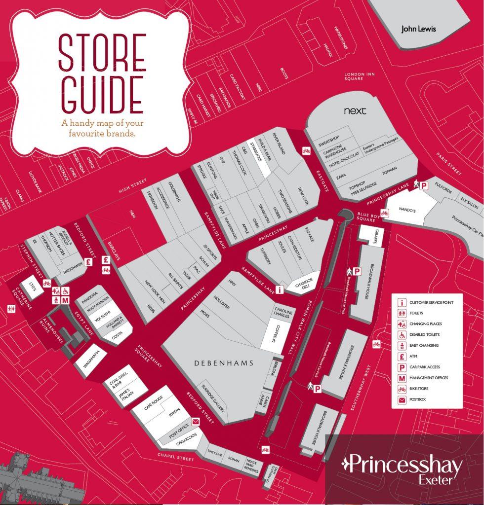 Centre Map | Princesshay