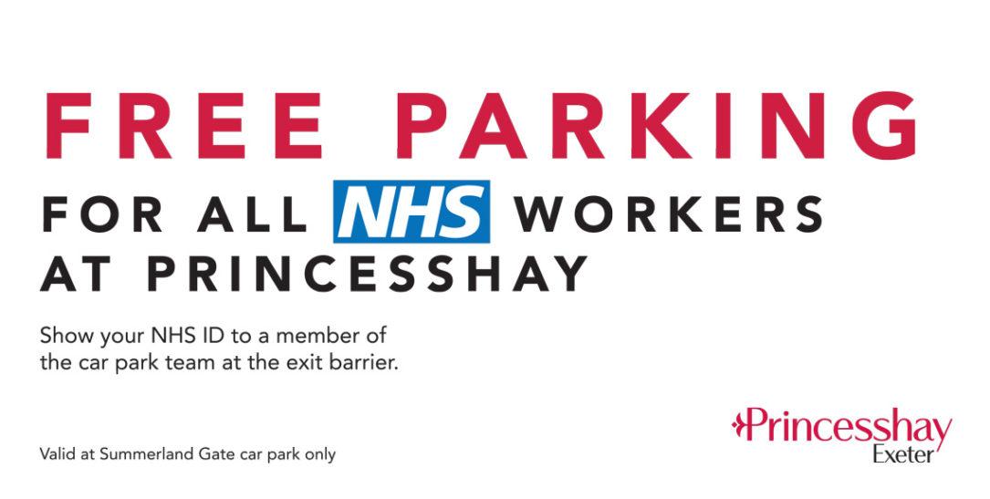 Free Parking at Princesshay for NHS